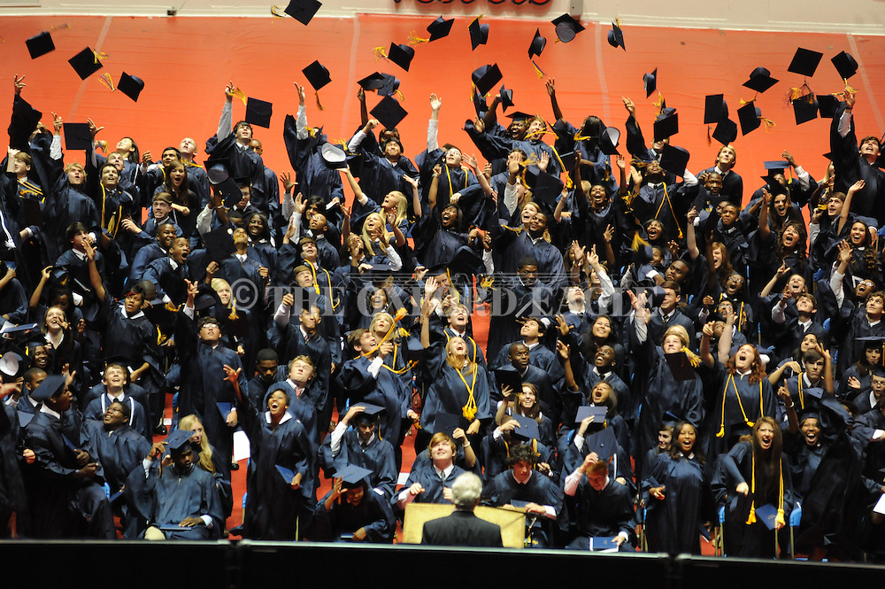 """Oxford High graduation ceremony at the C.M. """"Tad"""" Smith Coliseum in Oxford, Miss. on Saturday, May 19, 2012."""