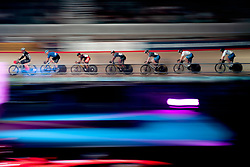 February 10, 2019 - Melbourne, VIC, U.S. - MELBOURNE, VIC - FEBRUARY 08: Riders are seen during the Keirin Final race at The Six Day Cycling Series on February 08, 2019 at Melbourne Arena, VIC. (Photo by Speed Media/Icon Sportswire) (Credit Image: © Speed Media/Icon SMI via ZUMA Press)