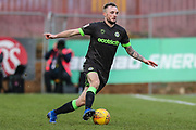 Forest Green Rovers Carl Winchester(7) on the ball during the EFL Sky Bet League 2 match between Stevenage and Forest Green Rovers at the Lamex Stadium, Stevenage, England on 26 January 2019.