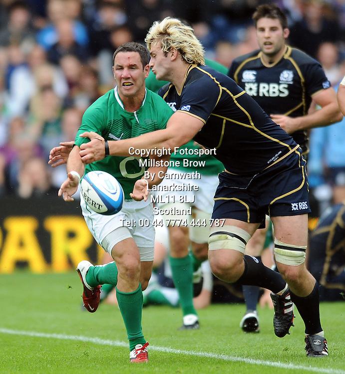 Paddy Wallace - Ireland centre.<br /> Scotland v Ireland, EMC Autumn Test, Murrayfield Stadium, Edinburgh, Scotland, Saturday 6th August 2011.<br /> PLEASE CREDIT ***FOTOSPORT/DAVID GIBSON***