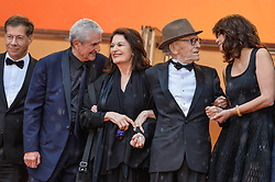 Anouk Aimee, Jean Louis Trintignant, Claude Lelouch, Monica Bellucci attending the premiere of Les Plus Belles Annees D Une Vie during 72nd Cannes Film Festival in Cannes, France on May 18, 2019. Photo by Julien Reynaud/APS-Medias/ABACAPRESS.COM