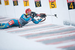Dzhyma Juliya of Ukraine competes during Ladies 7,5 km Sprint of the e.on IBU Biathlon World Cup on Thursday, December 14, 2012 in Pokljuka, Slovenia. The third e.on IBU World Cup stage is taking place in Rudno polje - Pokljuka, Slovenia until Sunday December 16, 2012. (Photo By Vid Ponikvar / Sportida.com)