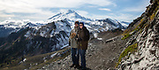 George Long and Courtney Blitch hike the Table Mountain Trail from Heather Meadows; Mt. Baker-Snoqualmie National Forest in Washington state
