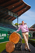 Merrit Paulson is the owner of the Portland Timbers Major League Soccer team, photographed at PGE park in Portland Oregon