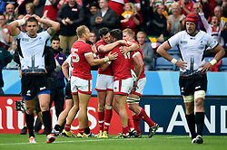 DTH Van Der Merwe of Canada is congratulated on his try - Mandatory byline: Patrick Khachfe/JMP - 07966 386802 - 06/10/2015 - RUGBY UNION - Leicester City Stadium - Leicester, England - Canada v Romania - Rugby World Cup 2015 Pool D.