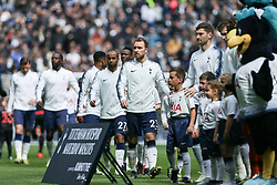 Christian Eriksen of Tottenham Hotspur before kick off - Mandatory by-line: Arron Gent/JMP - 13/04/2019 - FOOTBALL - White Hart Lane - London, England - Tottenham Hotspur v Huddersfield Town - Premier League