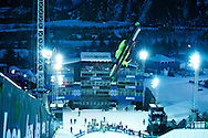 Kevin Rolland during Ski Superpipe Practice at 2014 X Games Aspen at Buttermilk Mountain in Aspen, CO. ©Brett Wilhelm/ESPN