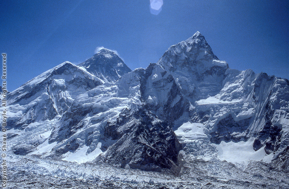 Mt Everest and Lhotse.