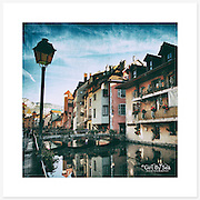Vieille Ville, Annecy, France - Colour version. Inkjet pigment print on Canson Infinity Rag Photographique 310gsm 100% cotton museum grade Fine Art and photo paper.<br />