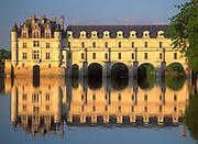 Chenonceau Chateau, River Cher, Loir-et-Cher,.Loire Valley, France