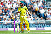 Australia ODI batsman Travis Head is out caught during the 5th One Day International match between England and Australia at Old Trafford, Manchester, England on 24 June 2018. Picture by Simon Davies.