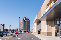 Architectural exterior image of Canton Crossing office and retail in Baltimore Maryland by Jeffrey Sauers of Commercial Photographics, Architectural Photo Artistry in Washington DC, Virginia to Florida and PA to New England