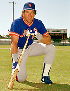SARASOTA, FLORIDA - 1986:  Gary Carter of the New York Mets poses for a photo prior to a major league baseball spring training game at Payne Park in Sarasota, Florida prior to the 1986 season.  (Photo by Ron Vesely).  Subject:   Gary Carter