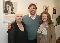 Ursula Skerritt, Henery Kenner and Deirdre Boyle at the opening of Rolling Sun Book festival over the weekend.Westport Town Hall Theatre.<br /> Pic Conor McKeown