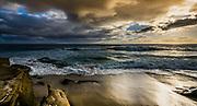 Moody Sky At Windansea Beach During Sunset In La Jolla