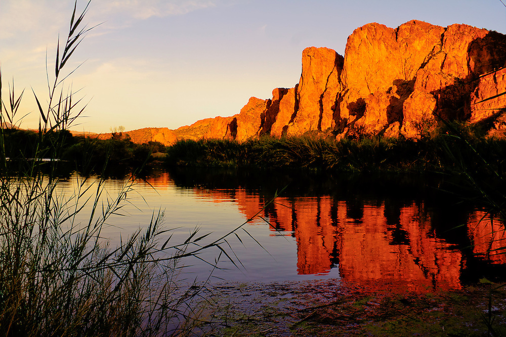 Sunset on the Lower Salt River, shooting with Aaron Blackburn