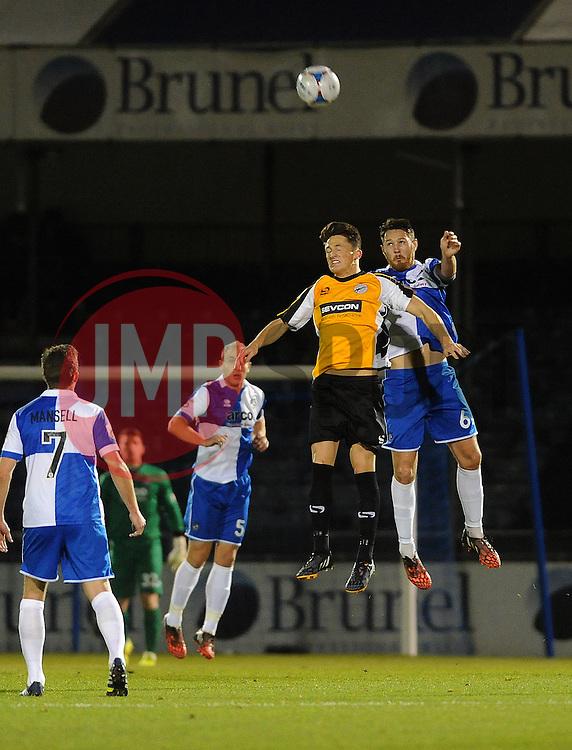 Bristol Rovers' Tom Parkes heads clear - Photo mandatory by-line: Neil Brookman/JMP - Mobile: 07966 386802 - 19/12/2014 - SPORT - football - Bristol - Memorial Stadium - Bristol Rovers v Gateshead  - Vanarama Conference