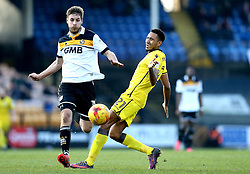 Cristian Montano of Bristol Rovers is tackled by Sam Foley of Port Vale - Mandatory by-line: Robbie Stephenson/JMP - 18/02/2017 - FOOTBALL - Vale Park - Stoke-on-Trent, England - Port Vale v Bristol Rovers - Sky Bet League One