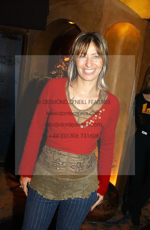MAYA FIENNES at a party to launch Riggid - T-shirt Couture held at Momo's Kemia Bar, 25 Heddon Street, London W1 on 18th November 2004.<br />