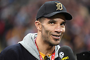 Former England goalkeeper David James during the International Series match between Los Angeles Rams and Cincinnati Bengals at Wembley Stadium, London, England on 27 October 2019.