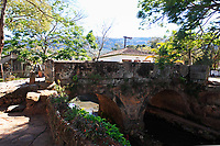 old stone bridge at the typical village of tiradente in minas gerais state in brazil