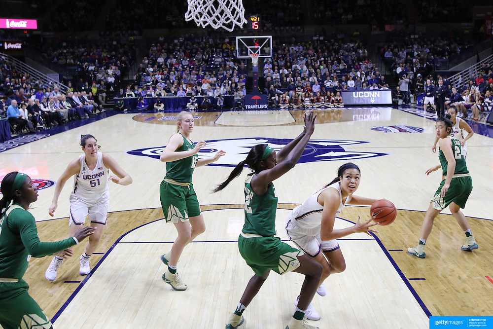 STORRS, CONNECTICUT- NOVEMBER 17: Napheesa Collier #24 of the UConn Huskies looks to shoot while defended by Beatrice Mompremier #32 of the Baylor Bears during the UConn Huskies Vs Baylor Bears NCAA Women's Basketball game at Gampel Pavilion, on November 17th, 2016 in Storrs, Connecticut. (Photo by Tim Clayton/Corbis via Getty Images)