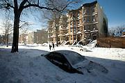 Snow Storm in Park Slope Brooklyn, NY. December 25 2010.