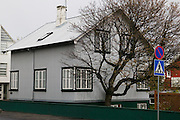 Metal clad house in Reykjavik, Iceland.