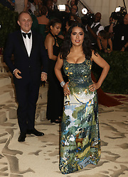 May 7, 2018 - New York City, New York, U.S. - FRANCOIS-HENRI PINAULT and actress SALMA HAYEK attend the Costume Institute Benefit celebrating the opening of Heavenly Bodies: Fashion and the Catholic Imagination exhibit held at at The Metropolitan Museum of Art. (Credit Image: © Nancy Kaszerman via ZUMA Wire)