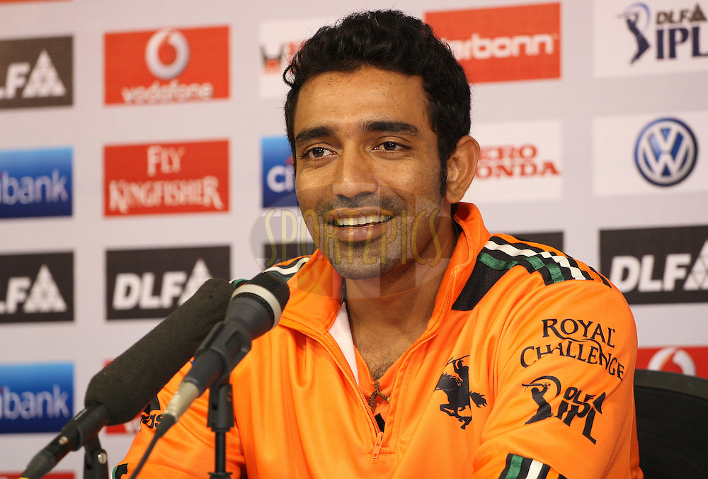 Robin Uthappa during the press conference after match 29 of the Indian Premier League ( IPL ) Season 4 between the Chennai Superkings and The Pune Warriors held at the MA Chidambaram Stadium in Chennai, Tamil Nadu, India on the 25th April 2011..Photo by Jacques Rossouw/BCCI/SPORTZPICS .