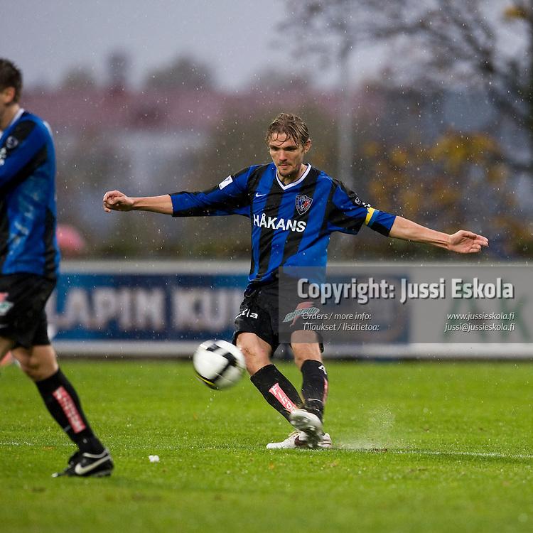 Jos Hooiveld. Inter - Honka. Veikkausliiga 5.10.2008. Photo: Jussi Eskola