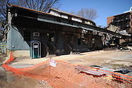 The remains of the Gin on Thursday, March 11, 2010. The state fire marshal has ruled the fire that roared through the building on Saturday, March 6, 2010 to be suspicious in nature.