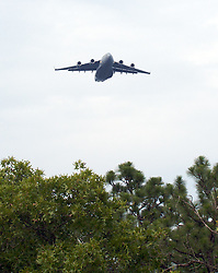 C17-Globemaster on final approach to drop-zone