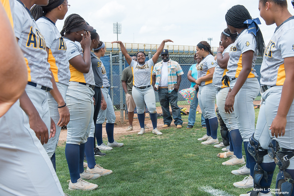 2017 A&T Softball vs Savannah State (Senior Day) \ www.ncataggies.com - Photo by: Kevin L. Dorsey