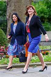 © Licensed to London News Pictures. 09/06/2015. Westminster, UK. Minister for Employment PRITI PATEL and Education Secretary NICKY MORGAN attending to a cabinet meeting in Downing Street on Tuesday, 9 June 2015. Photo credit: Tolga Akmen/LNP