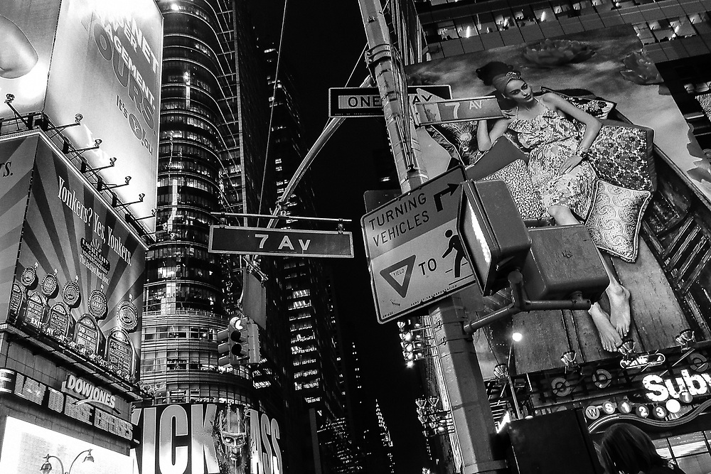 7th Av times square. NYC 2010
