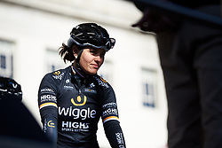 Rachele Barbieri (ITA) at sign on for ASDA Tour de Yorkshire Women's Race 2018 - Stage 2, a 124 km road race from Barnsley to Ilkley on May 4, 2018. Photo by Sean Robinson/Velofocus.com