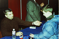 31 January 2001 - Cubs Caravan.  Illinois State University Student Union. Normal Il<br /> Jason Bere, JD Look<br /> Archive slide, negative and print scans.