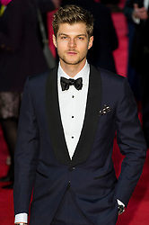 © Licensed to London News Pictures. 14/02/2016. London, UK. JIM CHAPMAN arrivs on the red carpet at the EE British Academy Film Awards 2016 Photo credit: Ray Tang/LNP