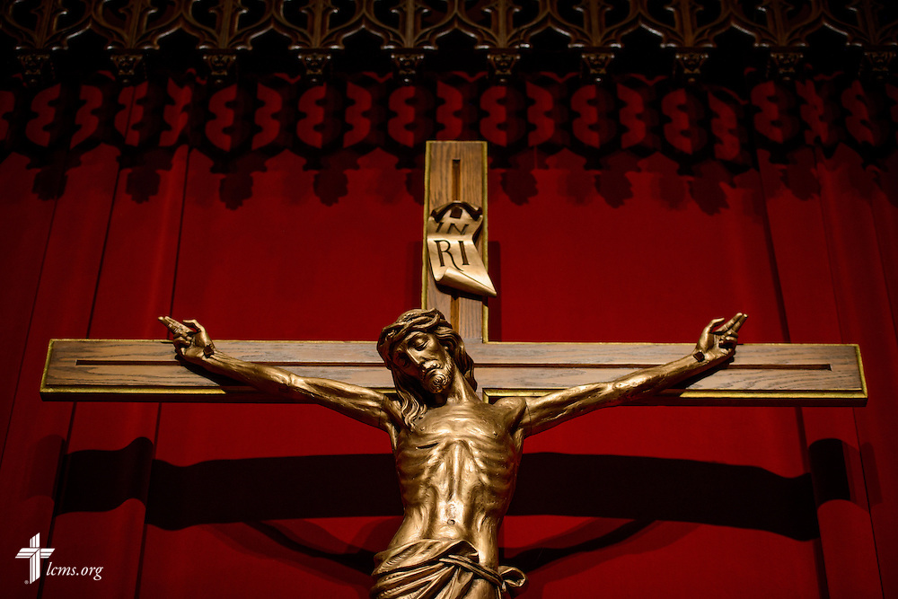 A crucifix at Luther Memorial Chapel on Friday, Jan. 29, 2016, in Shorewood, Wis. LCMS Communications/Erik M. Lunsford