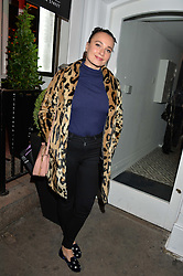 GIZZI ERSKINE at a dinner hosted by Autograph Collection Hotels held at 19 Greek Street, Soho, London on 12th October 2016.