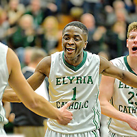 3.6.2015 Columbia at Elyria Catholic Boys Varsity Basketball