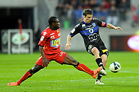 FOOTBALL - FRENCH CHAMPIONSHIP 2011/2012 - LE MANS FC v SC BASTIA   - 4/05/2015 - PHOTO PASCAL ALLEE / DPPI - YANNICK CAHUZAC (BASTIA) / JEFF LOUIS (LE MANS)