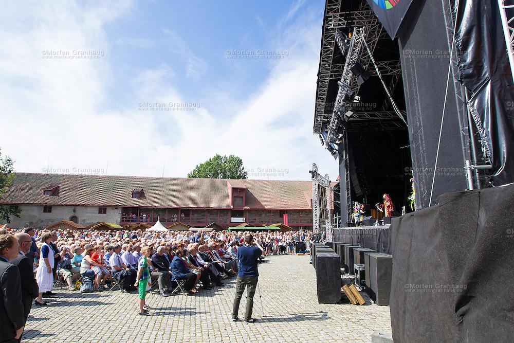 Åpningen av Olavsfestdagene, søndag 28. juli 2013.