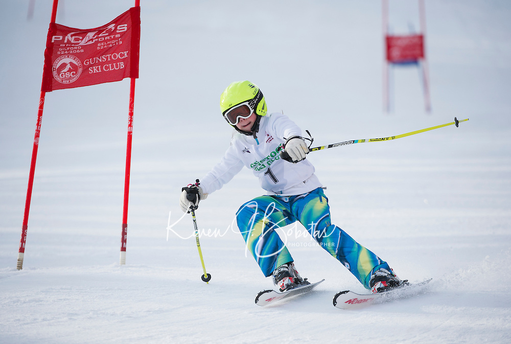 Gunstock Ski Club's Gus Pitou Memorial giant slalom Sunday, January 12, 2014.   ©2014 Karen Bobotas Photographer