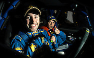 Cody Crocker & Greg Foletta - Portrait.Subaru Impreza WRX.2003 Falken Rally of Queensland.Imbul State Forest, QLD.13th-15th of June 2003 .(C) Joel Strickland Photographics