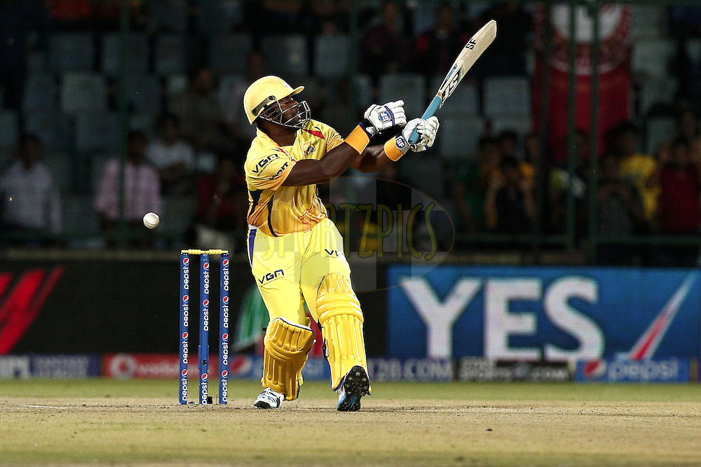 Dwayne Smith of The Chennai Superkings during match 26 of the Pepsi Indian Premier League Season 2014 between the Delhi Daredevils and the Chennai Superkings held at the Ferozeshah Kotla cricket stadium, Delhi, India on the 5th May  2014<br /> <br /> Photo by Deepak Malik / IPL / SPORTZPICS<br /> <br /> <br /> <br /> Image use subject to terms and conditions which can be found here:  http://sportzpics.photoshelter.com/gallery/Pepsi-IPL-Image-terms-and-conditions/G00004VW1IVJ.gB0/C0000TScjhBM6ikg