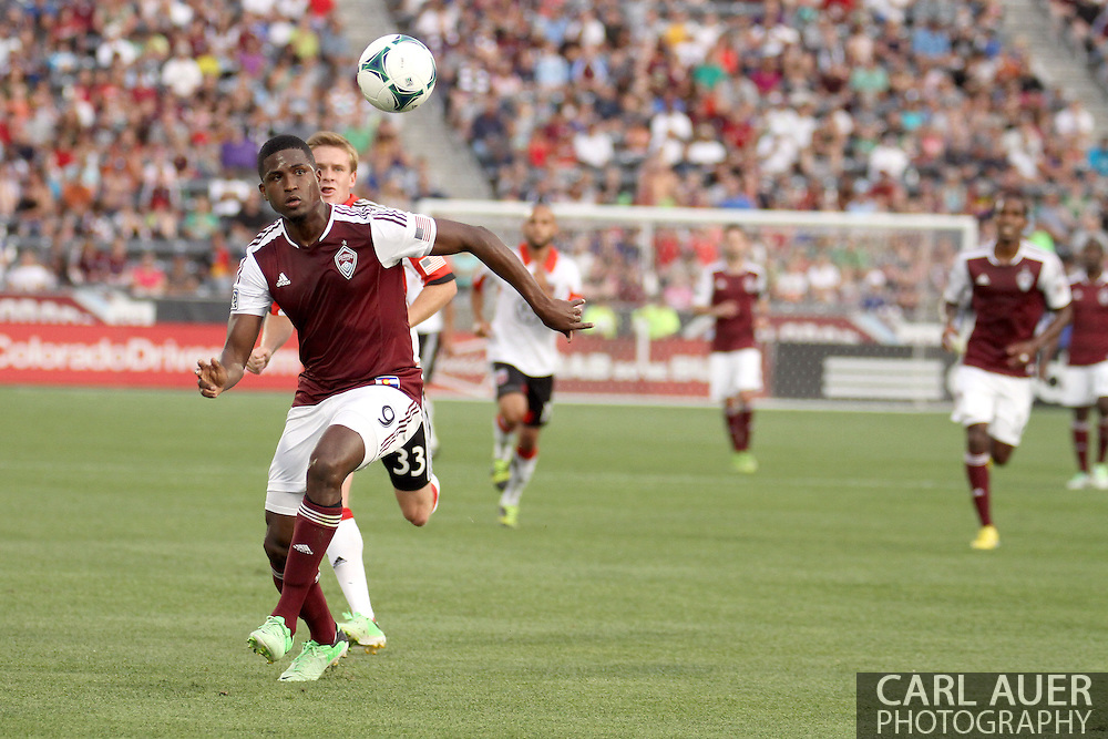 July 7th, 2013 - Colorado Rapids forward Edson Buddle (9) chases after the bouncing ball in the first half of action in the Major League Soccer match between D.C. United and the Colorado Rapids at Dick's Sporting Goods Park in Commerce City, CO