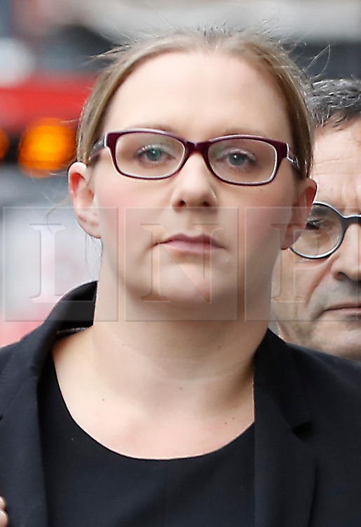 © Licensed to London News Pictures. 24/04/2017. London, UK. Solicitor ANNA CROWTHER arrives at the Solicitors Disciplinary Tribunal in central London where Leigh Day solicitors face disciplinary proceedings following claims by the Ministry of Defence that Leigh Day solicitors took part in ambulance-chasing over false compensation claims for the torture of Iraqi citizens. Photo credit: Peter Macdiarmid/LNP