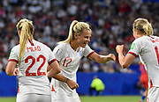 Rachel Daly of England celebrates the goal with teammates during the FIFA Women's World Cup France 2019, semi-final football match between England and USA on July 2, 2019 at Stade de Lyon in Lyon, France - Photo Antoine Massinon / A2M Sport Consulting / ProSportsImages / DPPI